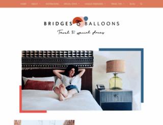 bridgesandballoons.com screenshot