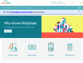 bridgespanhealth.com screenshot