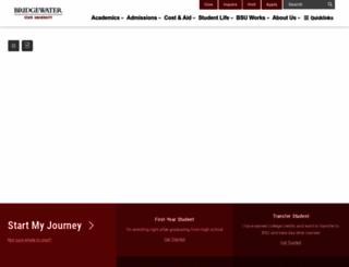 bridgew.edu screenshot