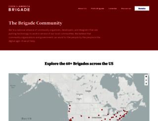brigade.codeforamerica.org screenshot