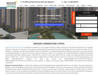 brigadecornerstoneutopia.net.in screenshot