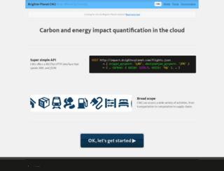 brighterplanet.com screenshot