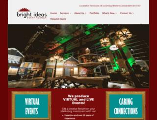 brightideasevents.com screenshot