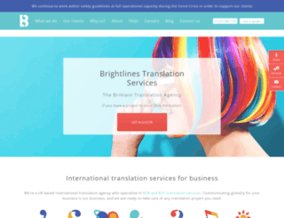 brightlines.co.uk screenshot