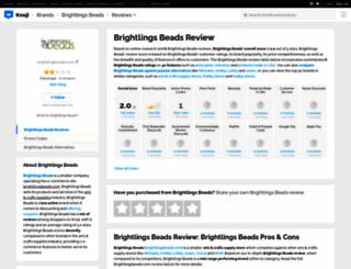 brightlingsbeads.knoji.com screenshot