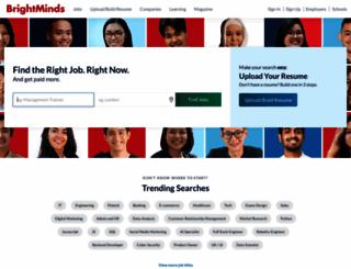 brightminds.jobscentral.com.sg screenshot