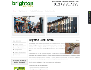 brightonpestcontrol.co.uk screenshot