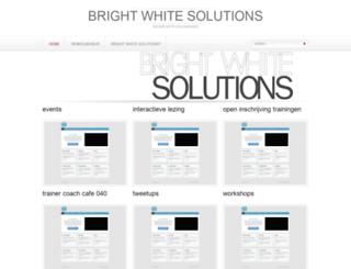brightwhitesolutions.nl screenshot