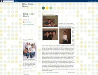 bringhomehowie.blogspot.com screenshot