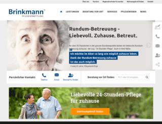 brinkmann-pflegevermittlung.de screenshot