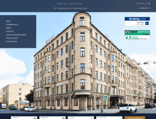 bristol-hotel.spb.ru screenshot