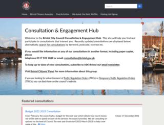 bristol.citizenspace.com screenshot