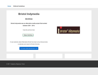 bristol.indymedia.org screenshot