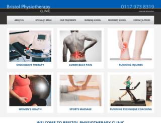 bristolphysiotherapyclinic.co.uk screenshot