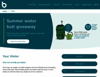 bristolwater.co.uk screenshot