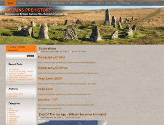 britains-prehistory.co.uk screenshot