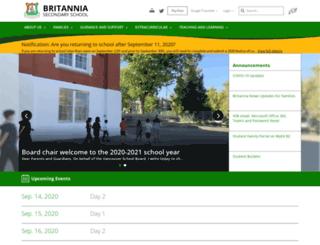 britannia.vsb.bc.ca screenshot