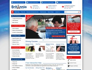 britanniadrivingschool.co.uk screenshot