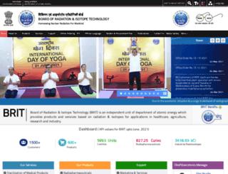 britatom.gov.in screenshot