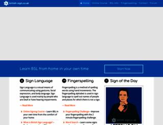 british-sign.co.uk screenshot