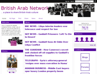 britisharabnetwork.ning.com screenshot