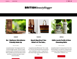 britishbeautyblogger.com screenshot
