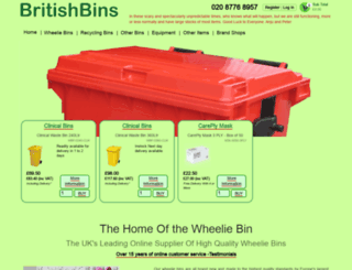 britishbins.co.uk screenshot