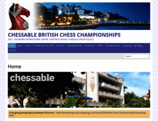 britishchesschampionships.co.uk screenshot