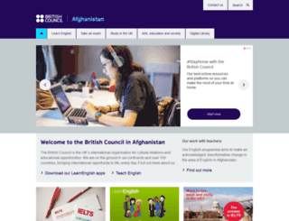 britishcouncil.af screenshot