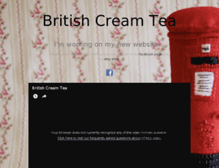 britishcreamtea.co.uk screenshot
