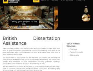 britishdissertationassistance.co.uk screenshot