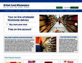 britishfoodwholesalers.com screenshot