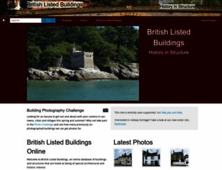 britishlistedbuildings.co.uk screenshot