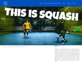 britishopensquash.net screenshot