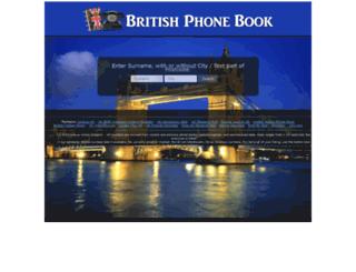 britishphonebook.com screenshot