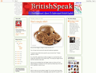 britishspeak.blogspot.com screenshot