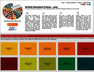 britishstandardcolour.com screenshot