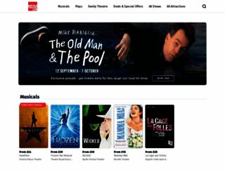 britishtheatre.entstix.com screenshot
