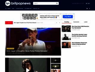 britpopnews.com screenshot