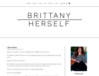 brittanyherself.com screenshot