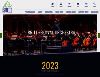 brittfest.org screenshot