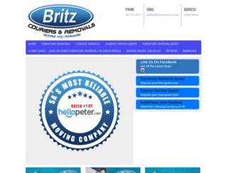 britzcouriersremovals.co.za screenshot