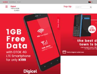 broadband.digicelpng.com screenshot