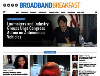 broadbandbreakfast.com screenshot