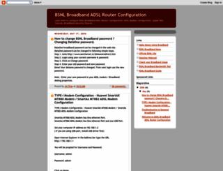 broadbandrouterconfiguration.blogspot.com screenshot