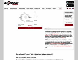 broadbandspeedchecker.co.uk screenshot