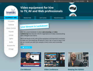 broadcast-services.co.uk screenshot