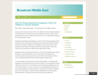 broadcastmiddleeast.wordpress.com screenshot