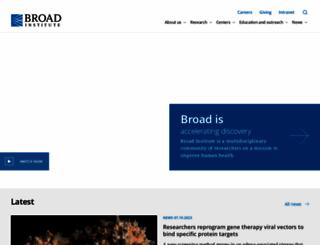 broadinstitute.org screenshot