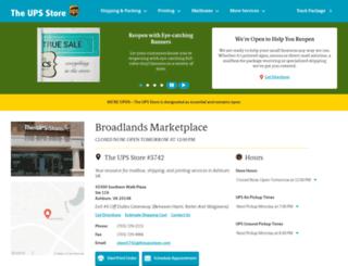 broadlands-va-5742.theupsstorelocal.com screenshot